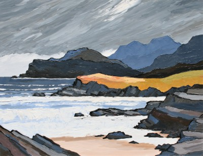 British Artist David BARNES - Hebridean Coast