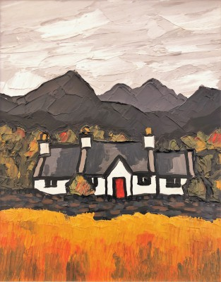 British Artist David BARNES - Cottage in the Moelwyns
