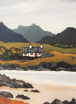 British Artist David BARNES - Croft by the Loch