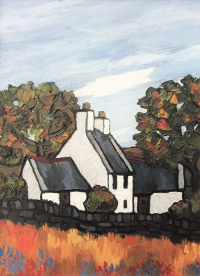 British Artist David BARNES - Farm in Gwynned