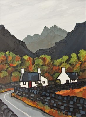 British Artist David BARNES - Near Ffestiniog