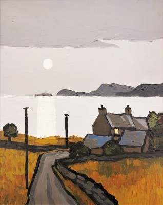 British Artist David BARNES - On Cardigan Bay
