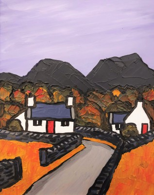 British Artist David BARNES - Road into the Hills