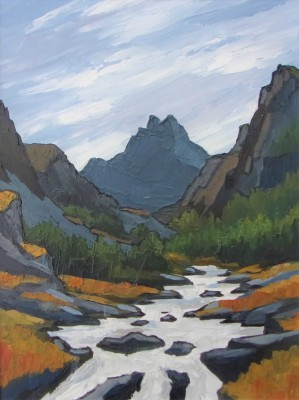 British Artist David BARNES - Tryfan and the Llugwy