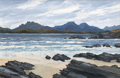 British Artist David BARNES - Across the sea to Skye