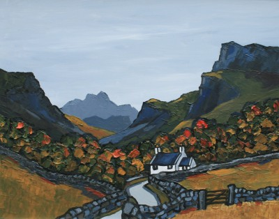 British Artist David BARNES - Snowdonian Cottage