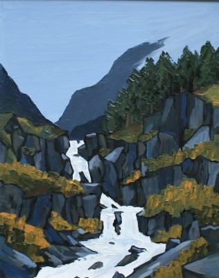 British Artist David BARNES - The Ogwen Falls