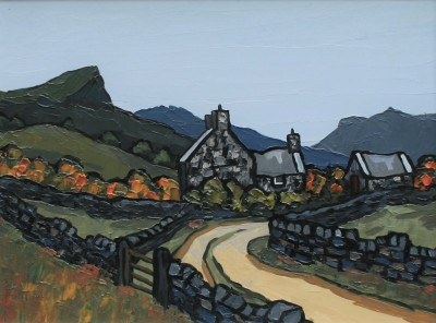 British Artist David BARNES - Hillside Road