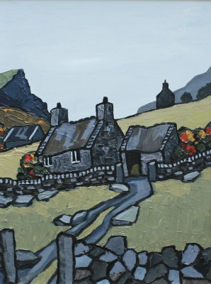 British Artist David BARNES - Near Waunfawr