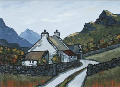British Artist David BARNES - Carneddau Farm