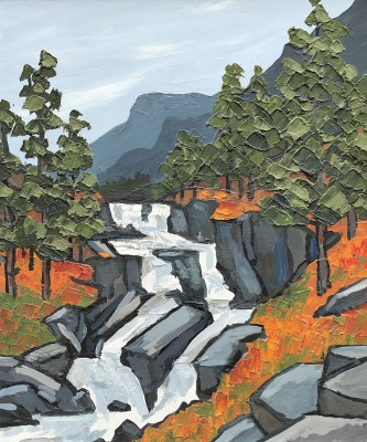British Artist David BARNES - In the Lledr Valley