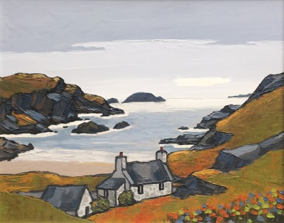British Artist David BARNES - The Inlet in Assynt
