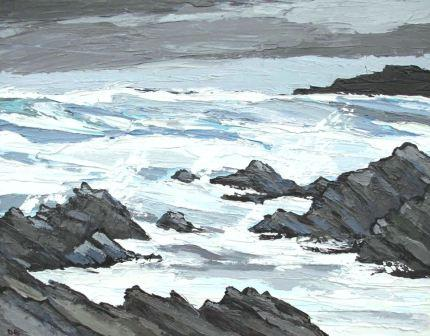 David BARNES - Heavy Seas off Rhosneigr