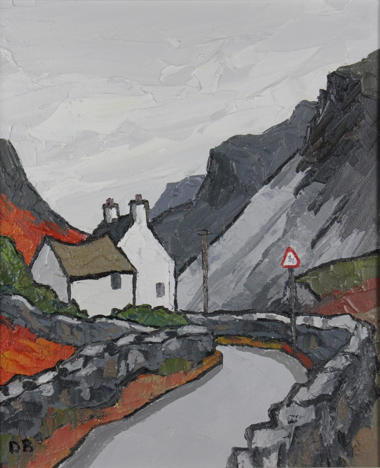David BARNES - Cottage and Dark Mountains