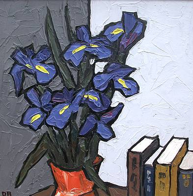 David BARNES - Irises and Books