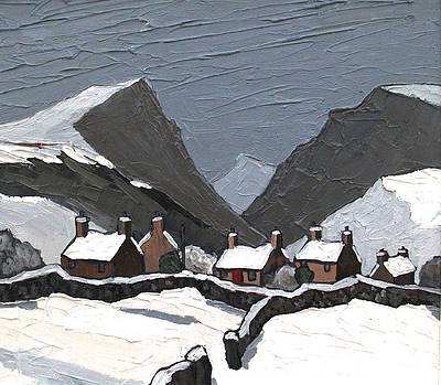 David BARNES - Welsh Village in Winter