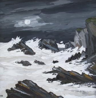 David BARNES - Rhoscolyn Rocks by Moonlight