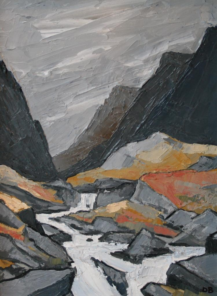 David BARNES - Storm and Waterfall, Llanberis Pass