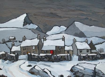 David BARNES - Snow on the Welsh Hills