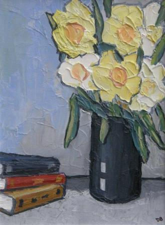 David BARNES - Daffodils with  Books