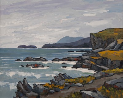 British Artist David BARNES - Holyhead Mountain