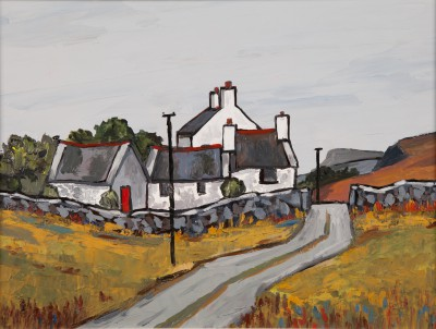 British Artist David BARNES - Pentrefoelas Farm
