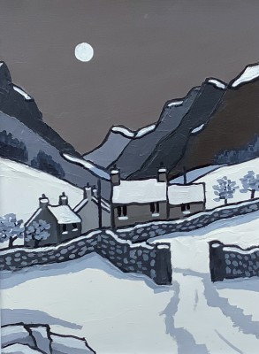 British Artist David BARNES - Siabod from the South