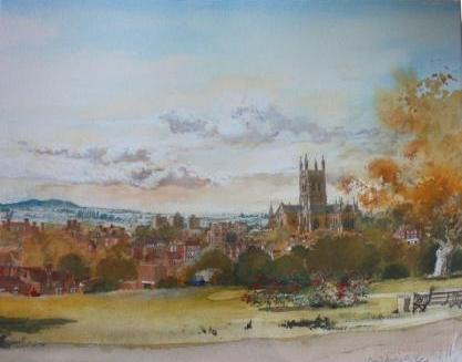 David BIRTWHISTLE - A Prospect of Worcester from Fort Royal Hill