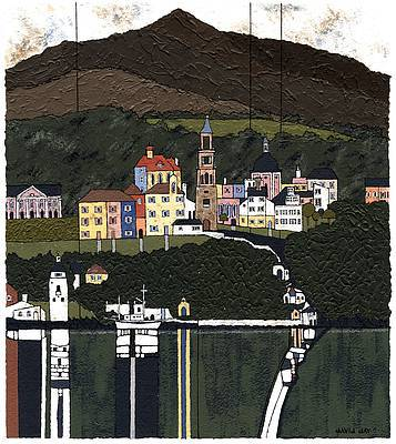 British Artist David DAY - Portmeirion, Snowdonia