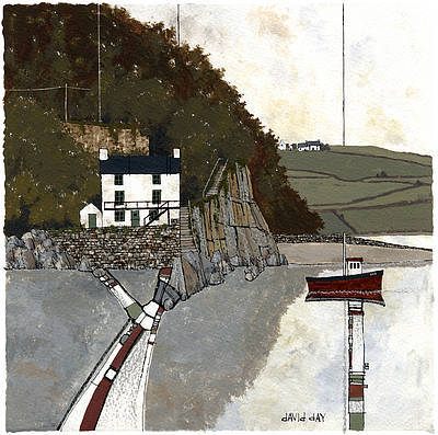 Limited Edition Prints Artist David Day - The Boathouse, Laugharne