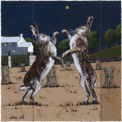 Limited Edition Prints Artist David Day - Harvest Hares