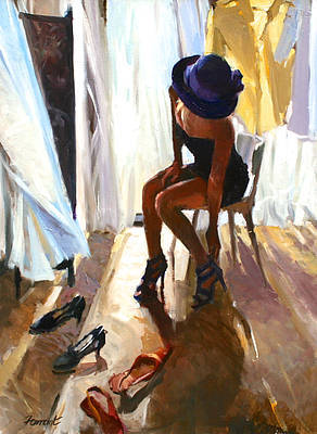 British Artist David FARRANT - The Dressing Room