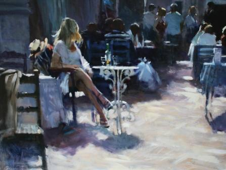 David FARRANT - Girl Waiting at the Table