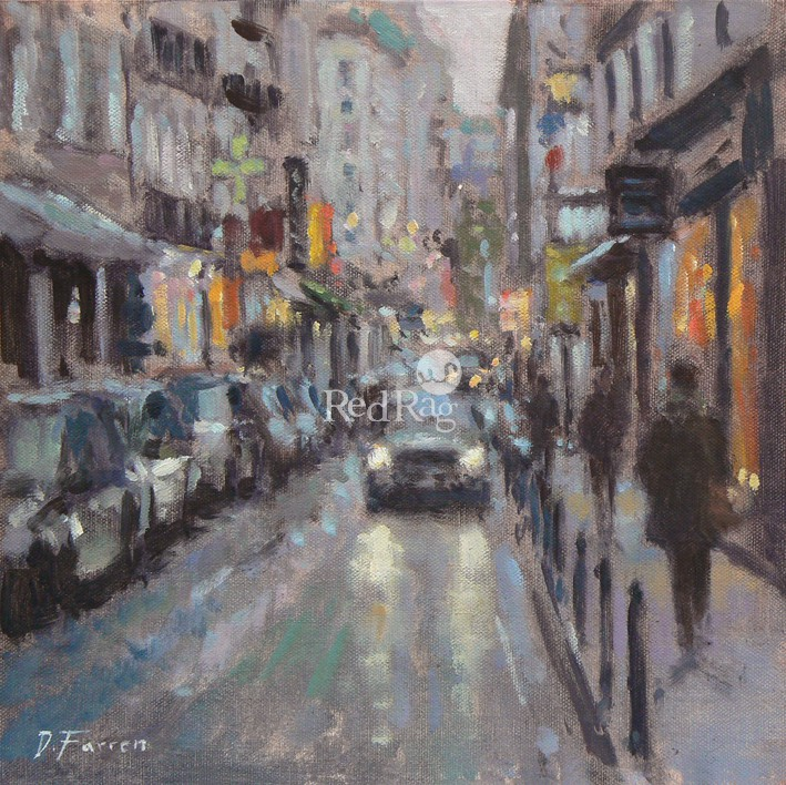 David FARREN - Evening Lights, Rue de Seine, Paris