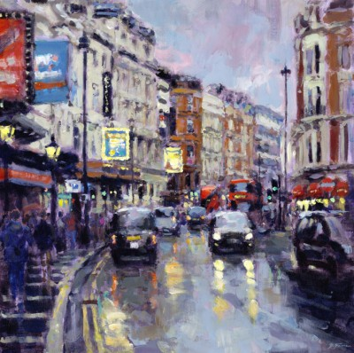 British Artist David FARREN - Twilight, Shaftesbury Avenue