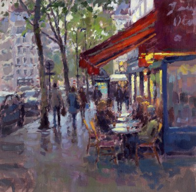 British Artist David FARREN - L'aperitif, Paris