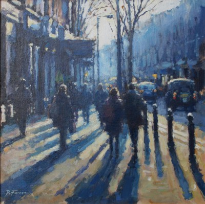 British Artist David FARREN - Late Afternoon Shadows, London