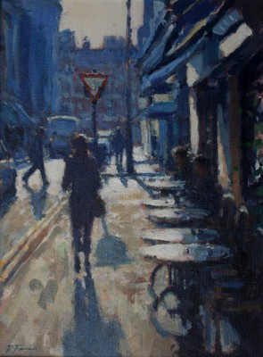 British Artist David FARREN - Sunday Morning, Soho