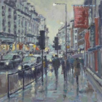 David FARREN - Late Afternoon Rain, Piccadilly, London