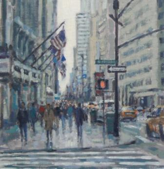 David FARREN - Pedestrians, Fifth Avenue, New York