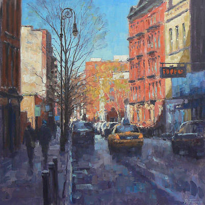 David FARREN - Winter Afternoon Sun, Greenwich Village