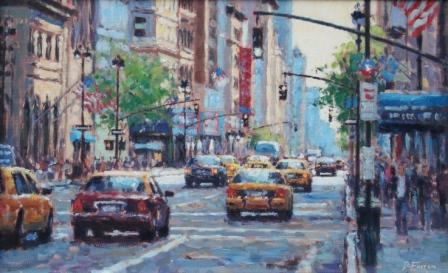 David FARREN - Cabs on Fifth Avenue