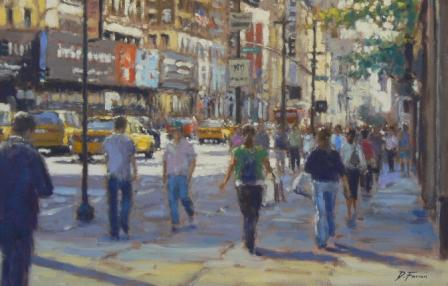 David FARREN - Midday Shoppers, Fifth Avenue