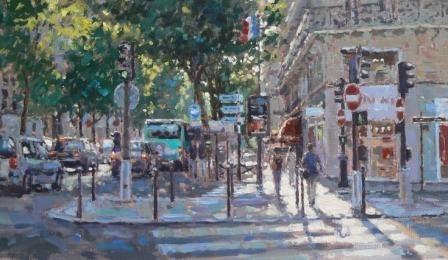 Limited Edition Prints Artist David Farren - Summer Light, Paris