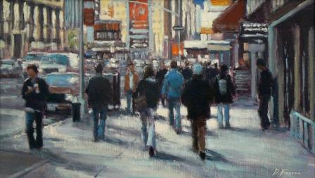 David FARREN - February Afternoon,Seventh Avenue, New York