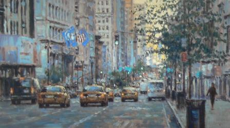 Limited Edition Prints Artist David Farren - First Light Manhattan