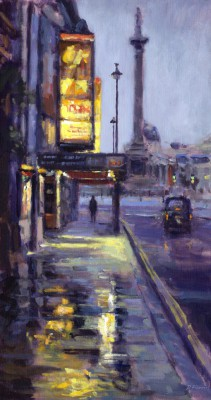 British Artist David FARREN - First Light, Towards Trafalgar Square