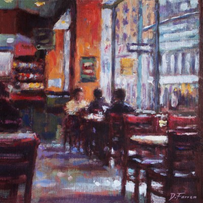 British Artist David FARREN - Window Seat, New York Deli