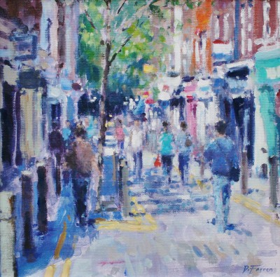 British Artist David FARREN - Summer Afternoon, Neal Street, London