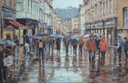 David FARREN - Umbrellas Union Street, Bath